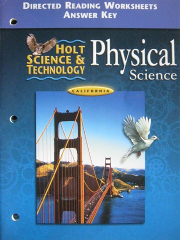 Holt Physical Science Directed Reading Worksheets Answer (CA)(P)