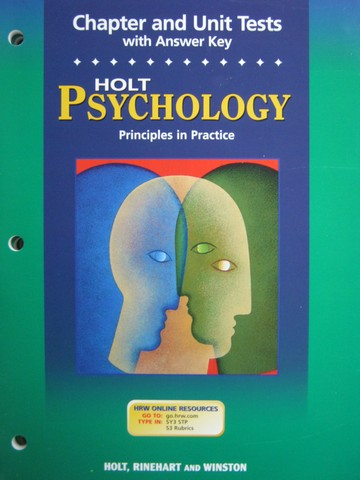 Psychology Principles in Practice Chapter & Unit Tests (P)