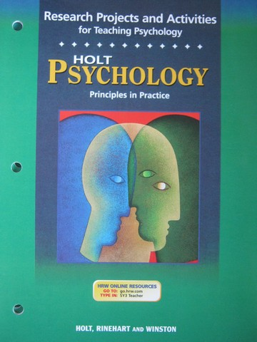 Psychology Principles in Practice Research Projects (P)
