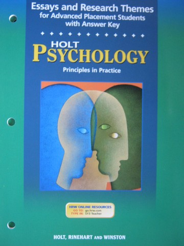 Psychology Principles in Practice Essays & Research Themes (P)