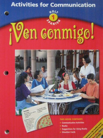 Ven conmigo! 1 Activities for Communication (P) by Batteiger,