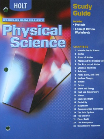 Science Spectrum Physical Science Study Guide (P)