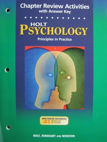 Psychology Principles in Practice Chapter Review Activities (P)