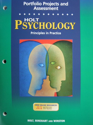 Psychology Principles in Practice Portfolio Projects (P)