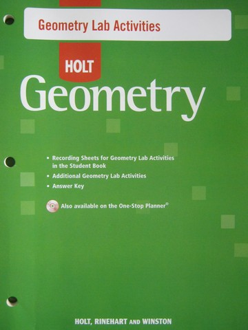 Holt Geometry Geometry Lab Activities (P)