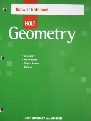 Holt Geometry Know-It Notebook (P)