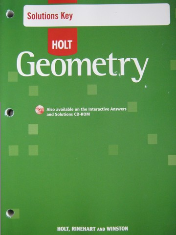 Holt Geometry Solutions Key (P)