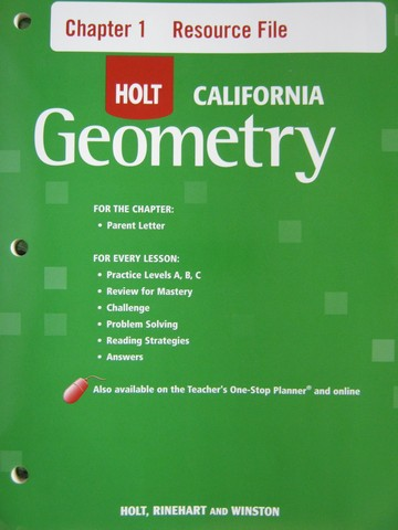California Geometry Chapter Resources Package (CA)(Pk)