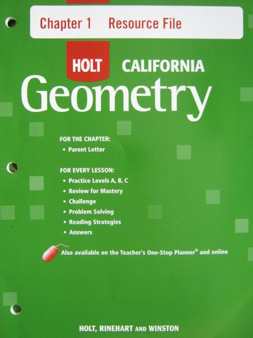 California Geometry Chapter 1 Resource File (CA)(P)