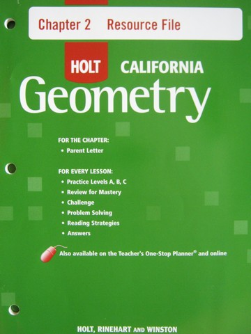 California Geometry Chapter 2 Resource File (CA)(P)