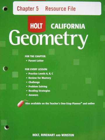 California Geometry Chapter 5 Resource File (CA)(P)