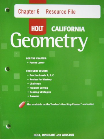 California Geometry Chapter 6 Resource File (CA)(P)