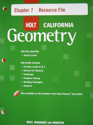 California Geometry Chapter 7 Resource File (CA)(P)