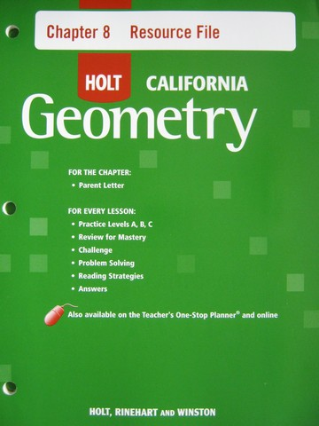 California Geometry Chapter 8 Resource File (CA)(P)