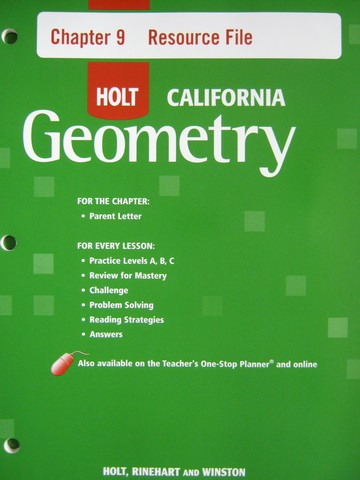 California Geometry Chapter 9 Resource File (CA)(P)