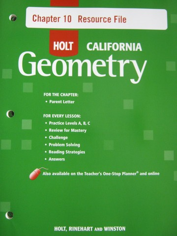 California Geometry Chapter 10 Resource File (CA)(P)