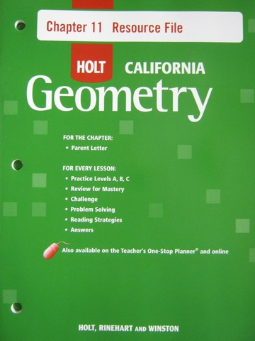 California Geometry Chapter 11 Resource File (CA)(P)