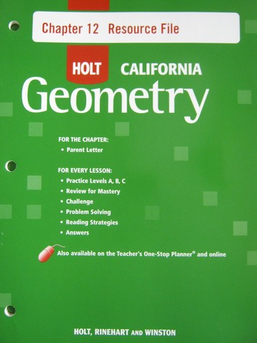 California Geometry Chapter 12 Resource File (CA)(P)