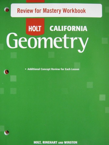 California Geometry Review for Mastery Workbook (CA)(P)
