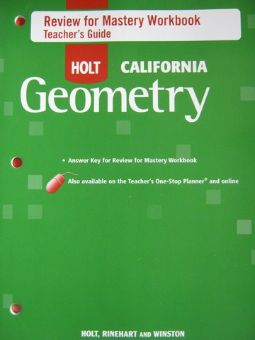 California Geometry Review for Mastery Workbook TG (TE)(P)