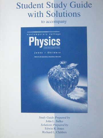 Contemporary College Physics 3rd Edition Student Study Guide (P)