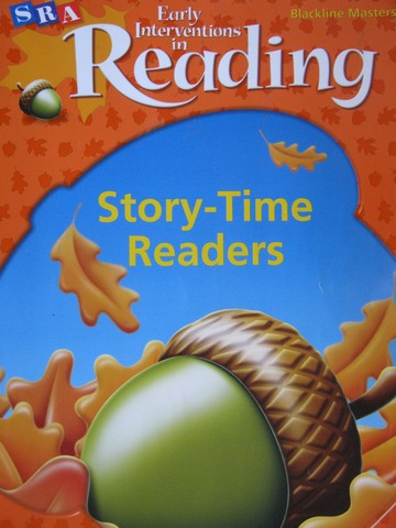 SRA Early Interventions in Reading 1 Story-Time Readers BLM (P)