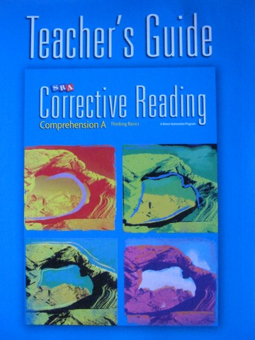 SRA Corrective Reading Comprehension A Thinking Basics TG (P)