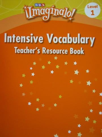 SRA Imaginalo! 1 Intensive Vocabulary TRB (TE)(P)