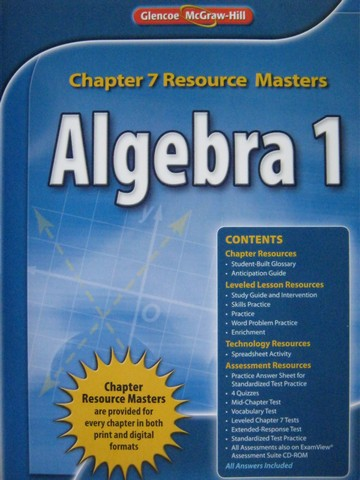 Algebra 1 Common Core Chapter 7 Resource Masters (P