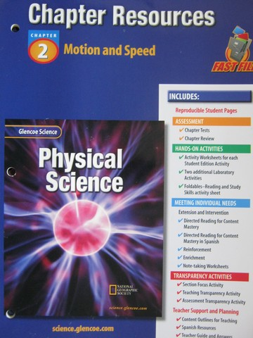 physical science motion review answers