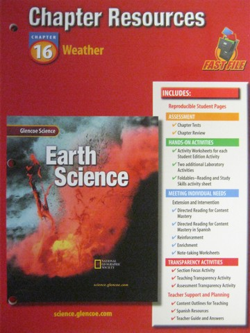 Glencoe Earth Science Chapter Resources 16 (P)
