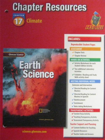 Glencoe Earth Science Chapter Resources 17 (P)