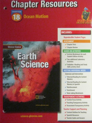 Glencoe Earth Science Chapter Resources 18 (P)