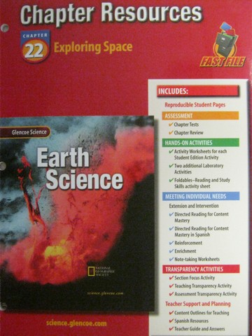 Glencoe Earth Science Chapter Resources 22 P 0078269539
