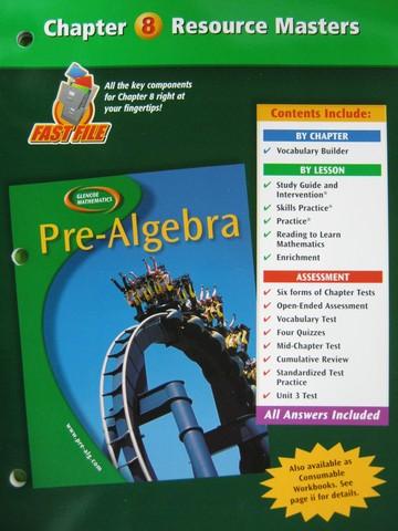 Glencoe Mathematics Pre Algebra Chapter 3 Resource Masters