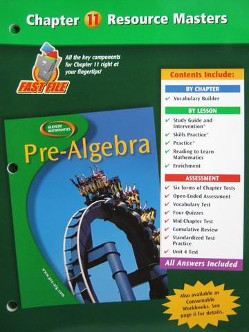 Glencoe Pre-Algebra Chapter 11 Resource Masters (P