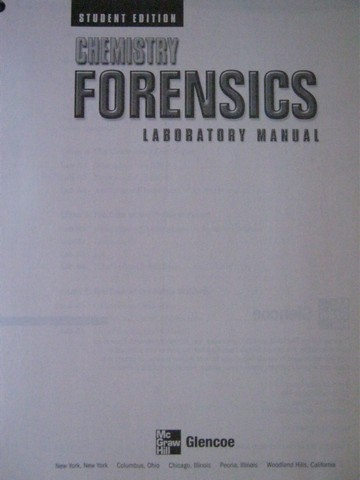 Chemistry Forensics Laboratory Manual Student Edition (P)