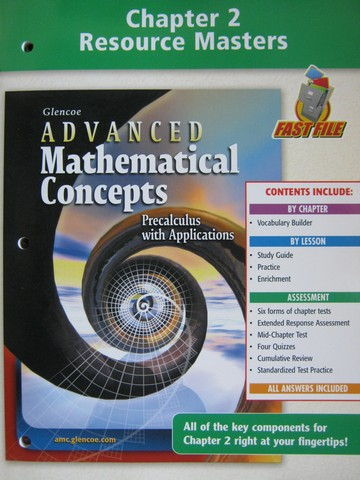 Advanced Mathematical Concepts Chapter 2 Resource (P)