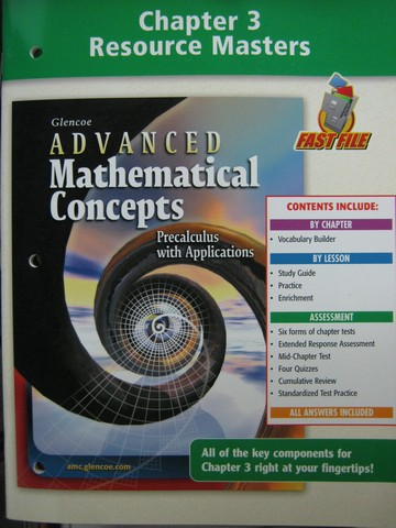 Advanced Mathematical Concepts Chapter 3 Resource (P)