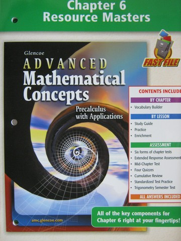 Advanced Mathematical Concepts Chapter 6 Resource (P)