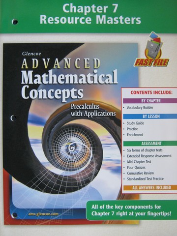 Advanced Mathematical Concepts Chapter 7 Resource (P)