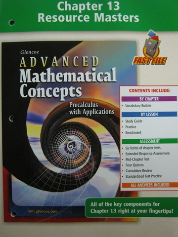 Advanced Mathematical Concepts Chapter 13 Resource (P)