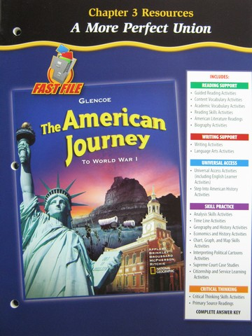 American Journey To World War 1 Chapter 3 Resources (P)