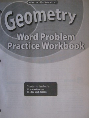 Glencoe Geometry Word Problem Practice Workbook (P)
