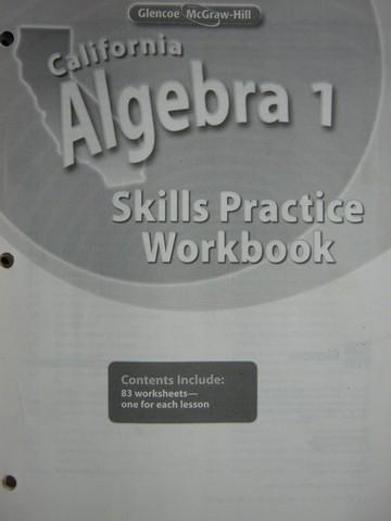 Glencoe Algebra 1 Skills Practice Workbook Cap 0078790492