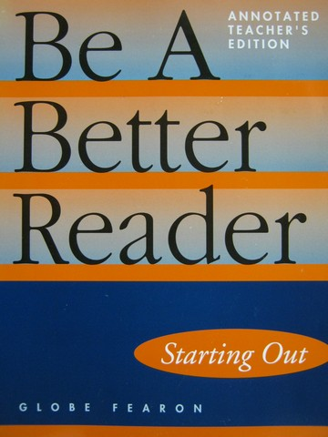 Be a Better Reader Starting Out ATE (TE)(P) by Kim Choi