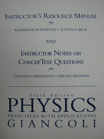 Physics Principles with Applications 6e IRM & Instructor (TE)(P)