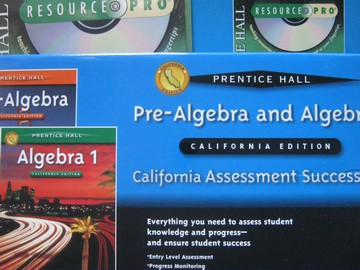 Algebra 1 California Assessment Success Kit (CA)(Pk)