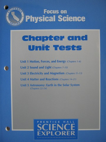 Focus on Physical Science Chapter & Unit Tests (CA)(P)