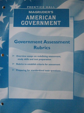 Magruder's American Government Government Assessment Rubrics (P)
